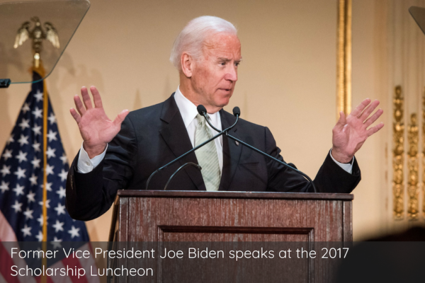 Former Vice President Joe Biden speaks at the 2017 Scholarship Luncheon