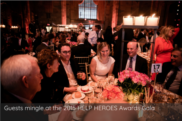 Guests mingle at the 2015 HELP HEROES Awards Gala