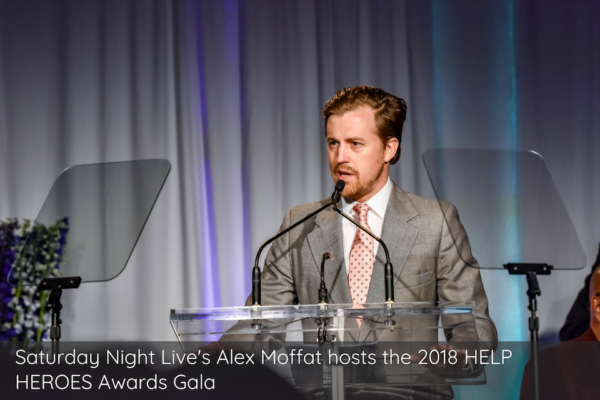 Saturday Night Live's Alex Moffat hosts the 2018 HELP HEROES Awards Gala